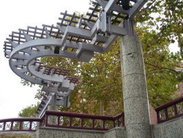 Truckee River Walk Pergola by rifka1