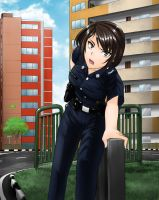 Singapore Police Girl by AFBA