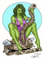 She Hulk Smash by stalk by Walfiend2