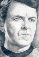 Montgomery Scott - Star Trek TOS ACEO Project by Araen