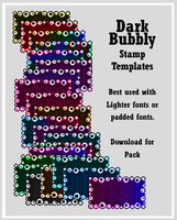 Dark Bubbly Stamp Templates by AssClownFish
