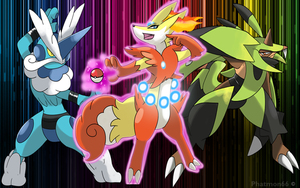 Pokemon X and Y Pick your starter by Phatmon