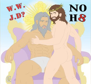 god and jesus NO HATE by samanthas-men