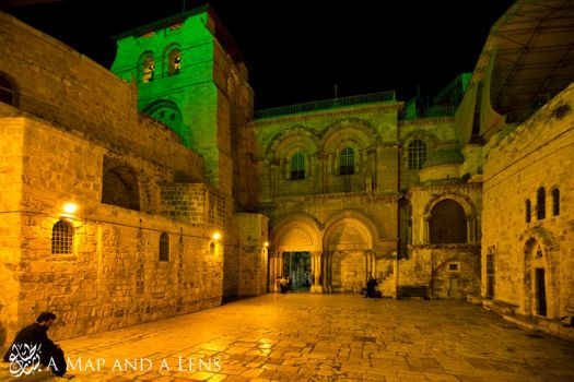 Jerusalem: Church of the holy sepulchre outside by Mgsblade
