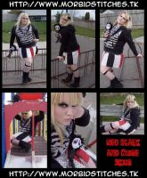 Red Black and White Skirt by morbid-stitches