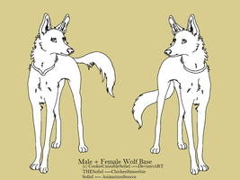 Male and Female Wolf Template by CookieCannibleSofiel