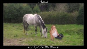A Girl and Her Horse by Aeltari