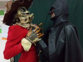 Scarecrow and the Bat freak. by ERINAND