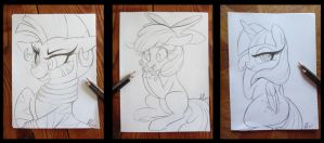 Sketches 1 by PrettyPinkP0ny