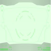 Simple nightvision tactical HUD pumpkinblur by Pearl-Shadow