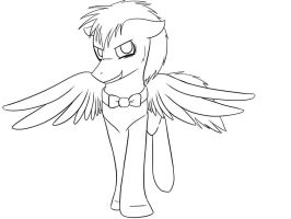 Discorded Whooves Lineart by NekonX103