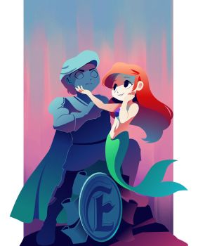 Little Mermaid Poster by hollyfig