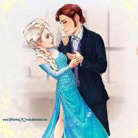 Modern Times: Hans and Elsa by PrincessOfCorona
