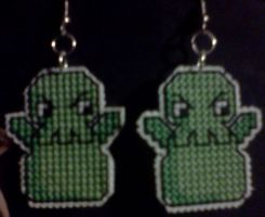 Overlord Cthulhu Earrings by Sew-Madd
