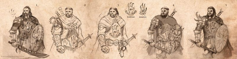 Demon Hunter Concept Designs by karichristensen