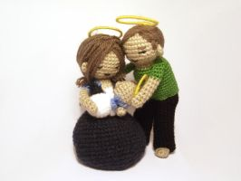 Amigurumi nativity scene by AnneKo