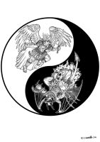 Divine Duality Yin-Yang by SpaceBoy969
