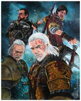 Witcher 3 - Witchers by Hollow-Moon-Art