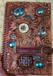 Polymer clay decorated journal by MandarinMoon