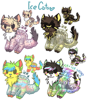 Ice-Cats Adopts 2! (ALL TAKEN) by XxAdoptxX