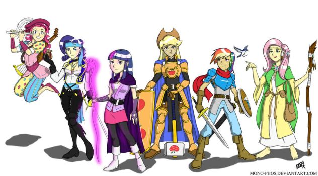DnD MLP heroines by Mono-Phos