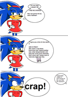What Amy did to Sonic by supersonicartdrawer