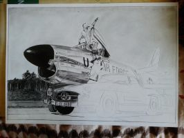 F-86D and Mercedes - still in progress by alainmi