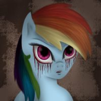 Rainbow Dash's Portrait by InfinitelyImpossible
