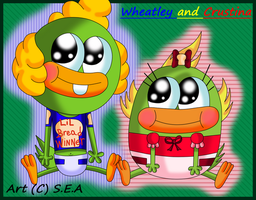 Breadwinners OCs-Baby Crustina and Wheatley by Skunky-Tastic