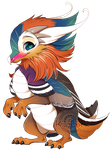 If birds were dragons: Mandarin duck by Kiwibon