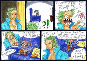 Zoro astonished by heivais