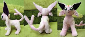 Espeon plushie by Rens-twin