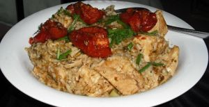 Cajun Chicken with roasted tomatoes by CorpusVermis
