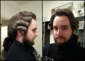 18th century men's wig by LadyCafElfenlake