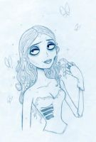 Corpse Bride Sketch by Neko-setsuka