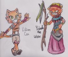 Lillian Cox and Yolanda the Wise by LunaCentre