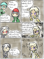 Marik's evil council comic by BluesKirby