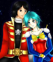 Commission: Allenby and Captain Marvelous by manu-chann