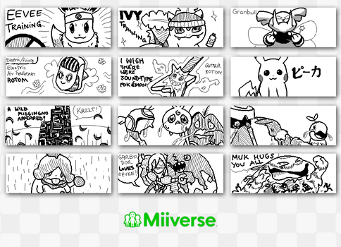 Miiverse Doodles #2 by mkbest