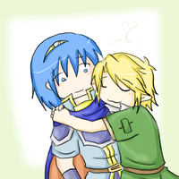 Marth x Link chibi by SparxPunx