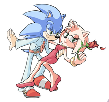 Sonamy - Fancy hedgehogs by Shira-hedgie