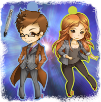 Dr. Who Keychains by BluevanDeurs