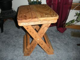 Wooden Folding Stool 1 by CandleGhost
