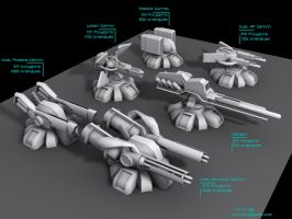 Defence turrets concepts by Pirosan