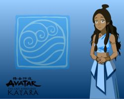 Blue Katara wallpaper by FeatherFantasy
