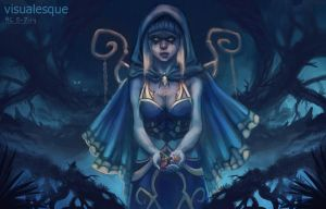 Witch of the glade by visualesque