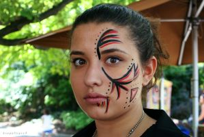 Tribal Face Paint by BengalTiger4