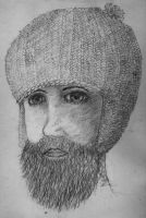 Bearded Hatted Man by sketchiskuirrel
