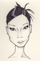 lucy liu caricature by j0epep
