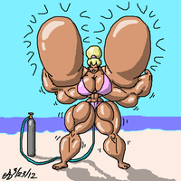 Extreme Muscle Inflation by ArchangelDreadnought